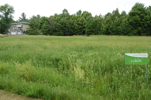 Ottawa country lots for sale at the Saddlebrooke Estates